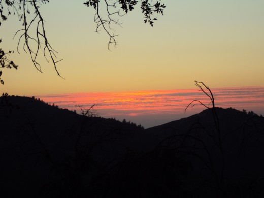 I always find the sunset in the San Bernardino Mountains to be quite captivating.