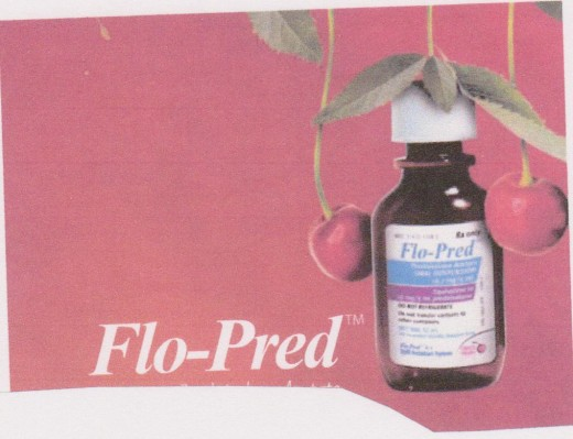 Flo-Pred Liquid Suspension is a corticosteroid that has multiple uses. In children, it's main function is to treat children who have asthma, in which the airways often get inflammed. It also has a unique cherry taste, which is an added benefit.