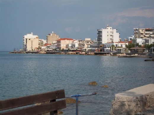 Xylokastro coast line