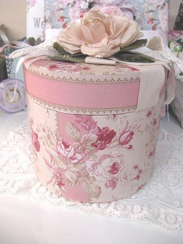 Hatboxes can be very ornamental as well as functional.