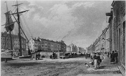 The River Farset, on the High Street, Belfast, c. 1830.
