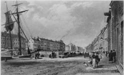 The River Farset, on the High Street, Belfast, c. 1830.