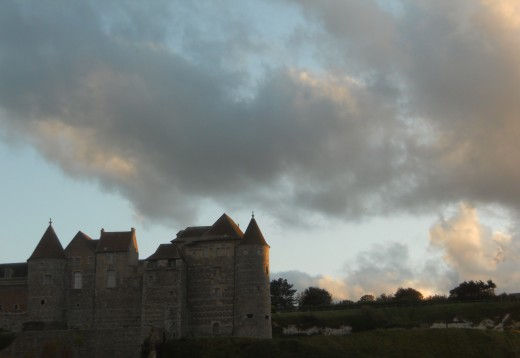 Dieppe Castle at sunset