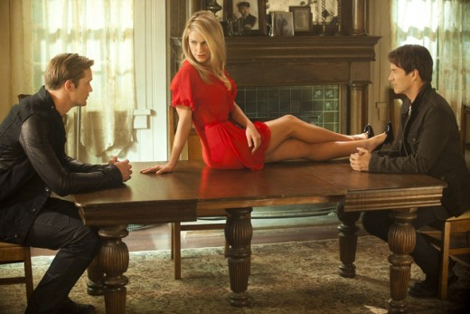 "Paquin is caught in a supernatural triangle with two different vampires on ""True Blood."""