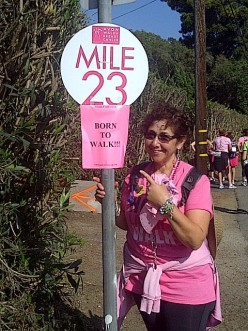 Me at Mile 23 during the Avon Walk for Breast Cancer Santa Barbara just 4 months after my mastectomy surgery