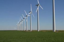 Onshore Wind Turbines on a Wind Farm