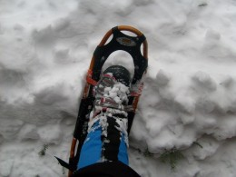 Snowshoes provide floatation and traction on snow and ice.  Anyone living in the snowy regions of our country should keep a pair in their trunk.