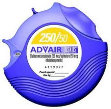 Advair diskus is a metered powdered dose inhaler which is used in the long term treatment of asthma. However drug like this contain a black box warning on them. Which means that they have been linked to sudden asthma deaths.