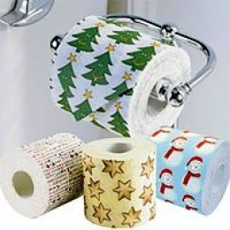 the christmas special toilet paper rolls