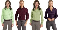 Long-sleeve corporate shirts from Red House and Port Authority.
