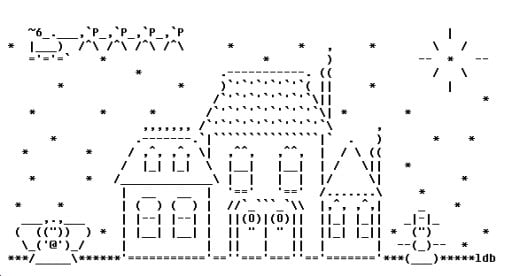 One Line Ascii Art Iphone : Christmas on line ascii art wroc awski informator