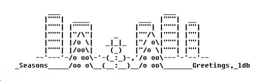 Single Line Ascii Art Faces : Christmas on line ascii art wroc awski informator