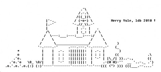 Simple One Line Ascii Art : Christmas on line ascii art wroc awski informator