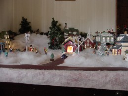 Christmas village evokes Christmas spirit?