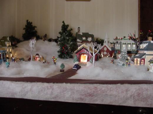 Christmas village evokes Christmas spirit?
