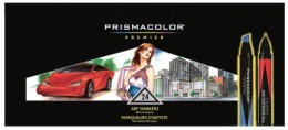 Prismacolor premier artist markers that have double ended tips for professional use for designers and illustrators.