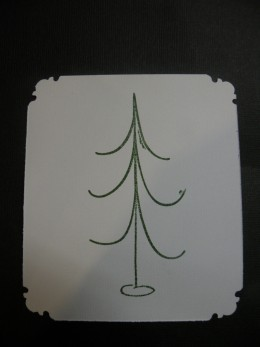 Tree Stamped on the white cardstock