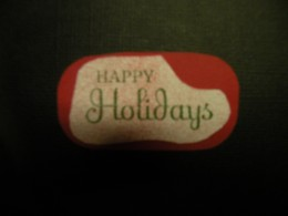 Sentiment stamped on white cardstock, adhered to red