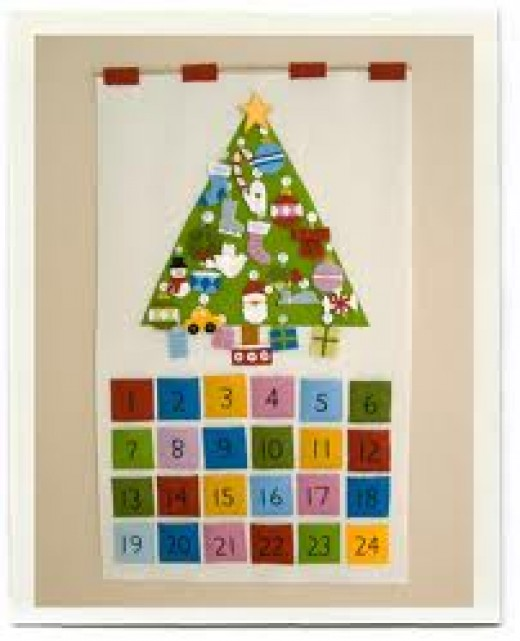 You can make your own advent calendar or you can make this one.