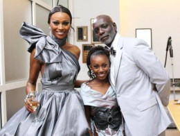 Cynthia Bailey, her daughter Noell, and her husband, Peter Thomas - He looks like her daddy doesn't he?