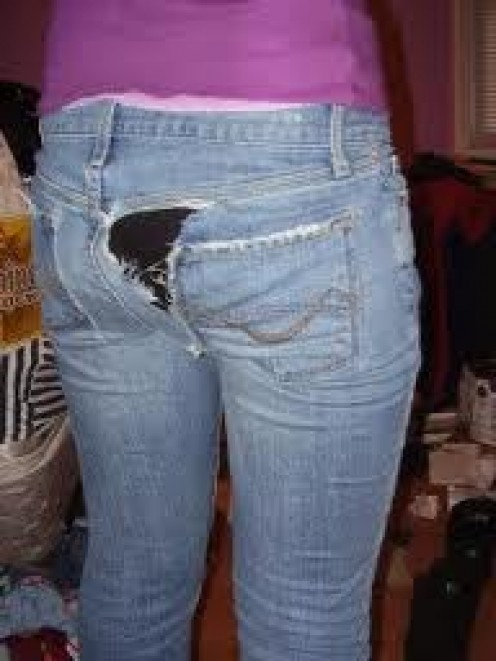 RIPS IN THE PANTS. THE ALWAYS-COMICAL WAY TO GET UNWANTED ATTENTION, SO ALWAYS WEAR UNDERWEAR AT ALL TIMES.