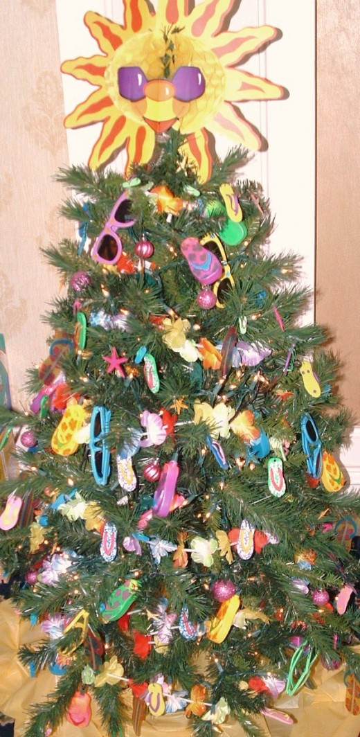 Children's beach themed tree. This was my personal favorite.