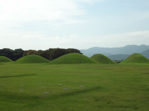 The tombs that you'll see around Gyeongju.