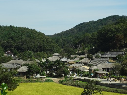 Traditional town in Gyeongju.