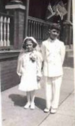 First Holy Communion of a cousin 1959. Notice the porch in the background.