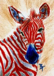 Patriotic Zebra