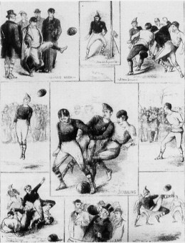 The first football international, Scotland versus England, Hamilton Crescent, November 30, 1872.
