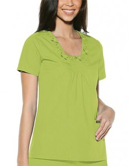 Baby Phat Womens Square Neck Nursing Scrub Top