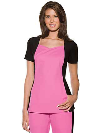 Baby Phat Women Sweetheart Neckline Nurse Scrub Top