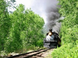 on the day you don't ride, you can hike from the RV park  through the woods and greet the train as it passes by