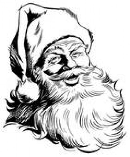 THE TRADITIONAL SANTA CLAUS--LAUGHING TO LOUD AND GIVING SO MUCH TO THE CHILDREN, AND YES, ADULTS TOO.