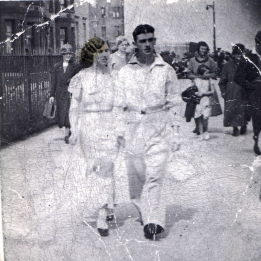 I was told that this was my grandparents on honeymoon, I was also told it was in Ireland - apparently my grandmother from there (but then doesn't everyone have an Irish Grandmother?)