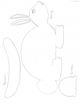 Bunny, Banana, and Ice cream template free drawn.