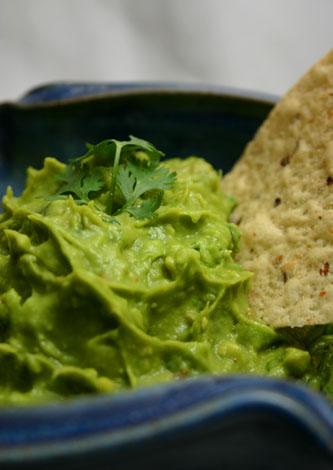 fresh, homemade guacamole