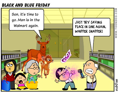 Black and Blue Friday by Beth Perry/subDes
