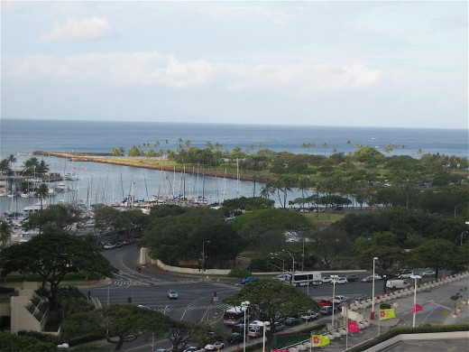 View of Ala Maona Park from the newly renovated Ala Moana Hotel