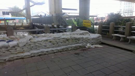 Sandags at Sathorn pier