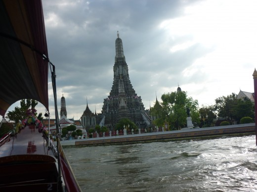 Approaching Wat Arun Temple