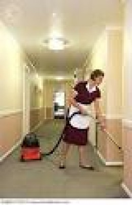 HIRE A MAID TO VACUUM HER HOUSE OR APARTMENT.