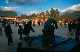 Purified water font, Heian Shrine.