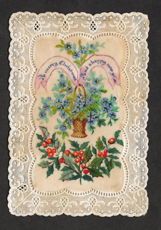 VICTORIAN CHRISTMAS CARD FROM AROUND 1870