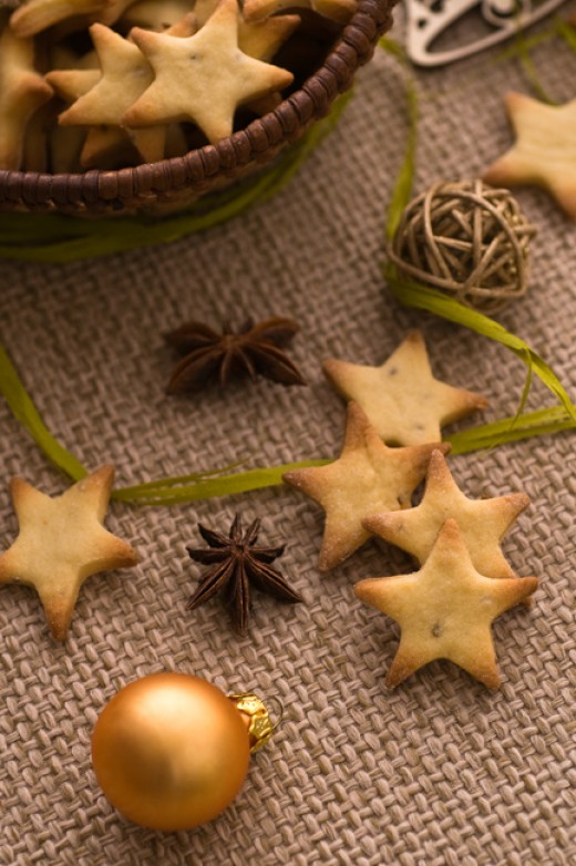 Christmas Anise Star cookies.