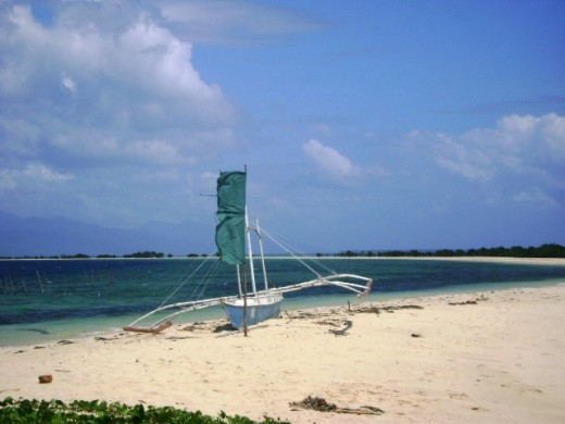 The pristine beach of Snake Island