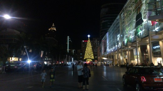 Christmas preparations in BKK