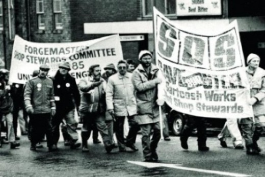 Gartcosh workers on the long march to London