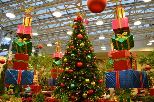 Part of the annual flower and train show at Missouri Botanical Garden, called Gardenland Express.  A very festive time!